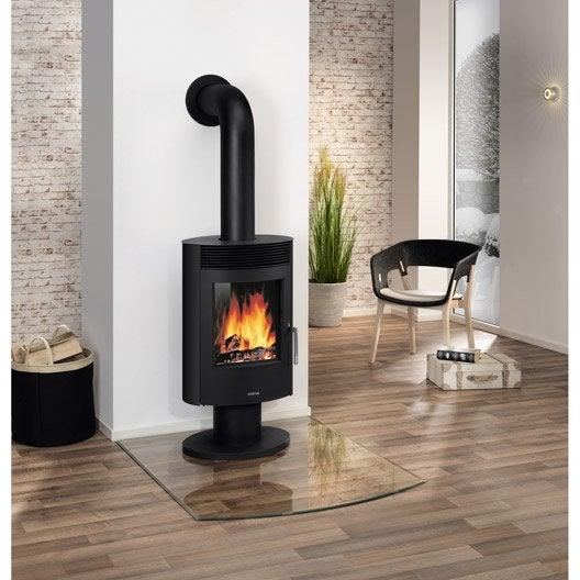 po le bois justus seeland noir 5 kw leroy merlin. Black Bedroom Furniture Sets. Home Design Ideas