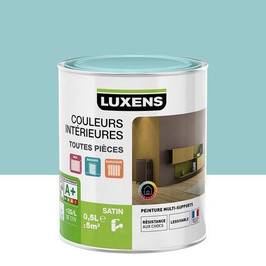 peinture bleu atoll 5 luxens couleurs int rieures satin 0 5 l leroy merlin. Black Bedroom Furniture Sets. Home Design Ideas