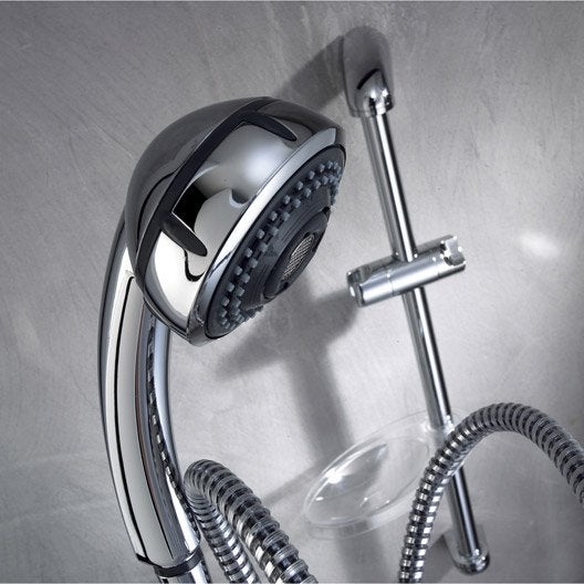 Ensemble de douche chrom valentin oxane 2 chrome leroy merlin - Ensemble de douche leroy merlin ...