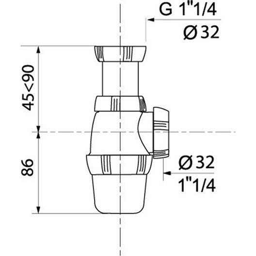 Siphon, Diam.32 mm