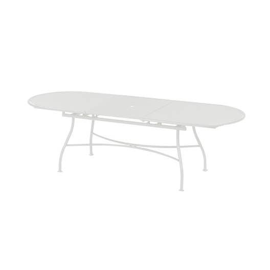 table de jardin evo rectangulaire blanc 10 personnes leroy merlin. Black Bedroom Furniture Sets. Home Design Ideas