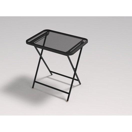 table de jardin voil rectangulaire fer ancien 2 personnes. Black Bedroom Furniture Sets. Home Design Ideas