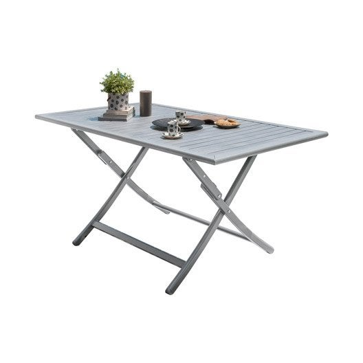 Table de jardin orlando gris personnes with leroy merlin - Table pliante leroy merlin ...