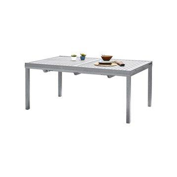 Table de jardin Orlando rectangulaire gris 8 personnes