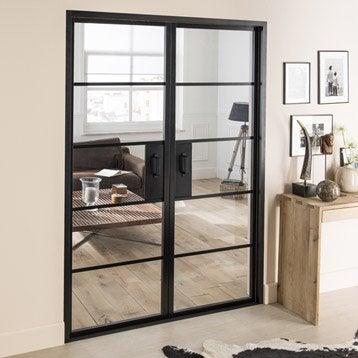 elegant blocporte laque noir chlo artens h x l cm with changer vitre porte interieure