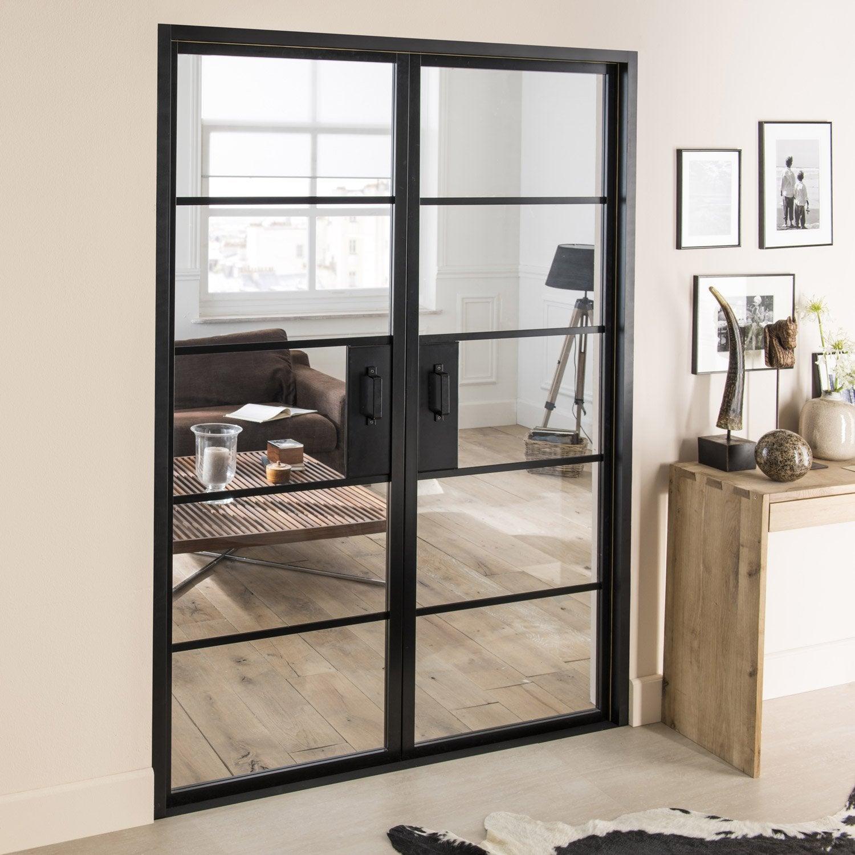 bloc porte laqu e noir chlo artens x cm. Black Bedroom Furniture Sets. Home Design Ideas