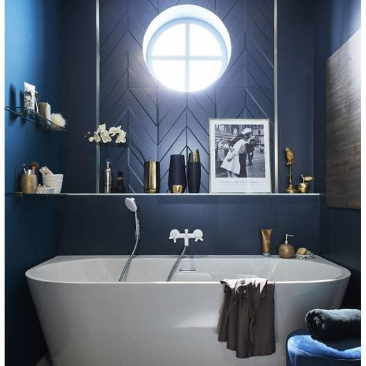 fa ence mur bleu decor home chevron mat x cm leroy merlin. Black Bedroom Furniture Sets. Home Design Ideas