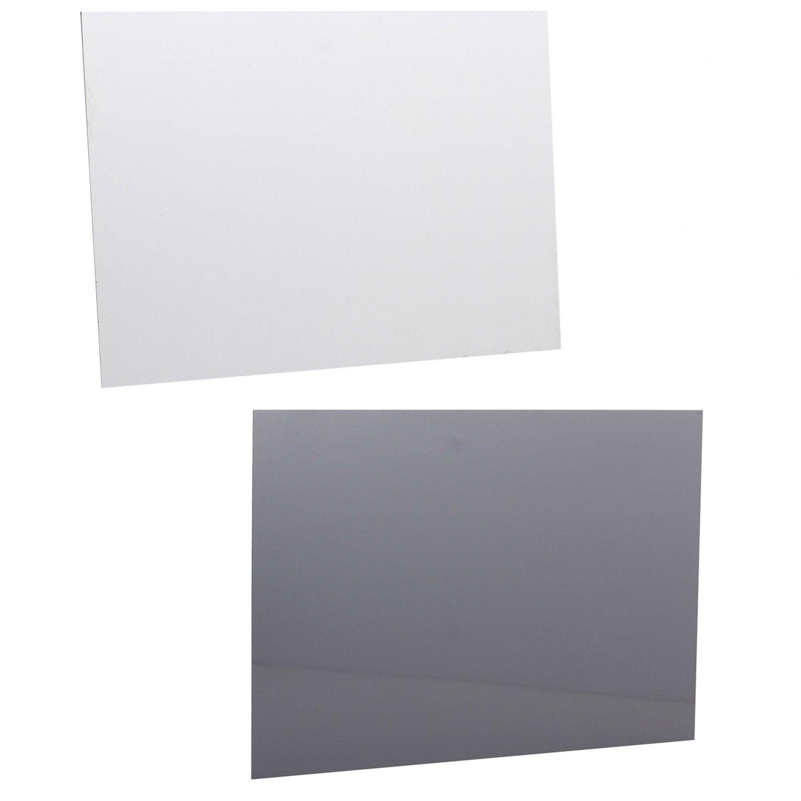 Crédence compact Blanc/gris H.63.5 cm x Ep.2 mm x L.120 cm