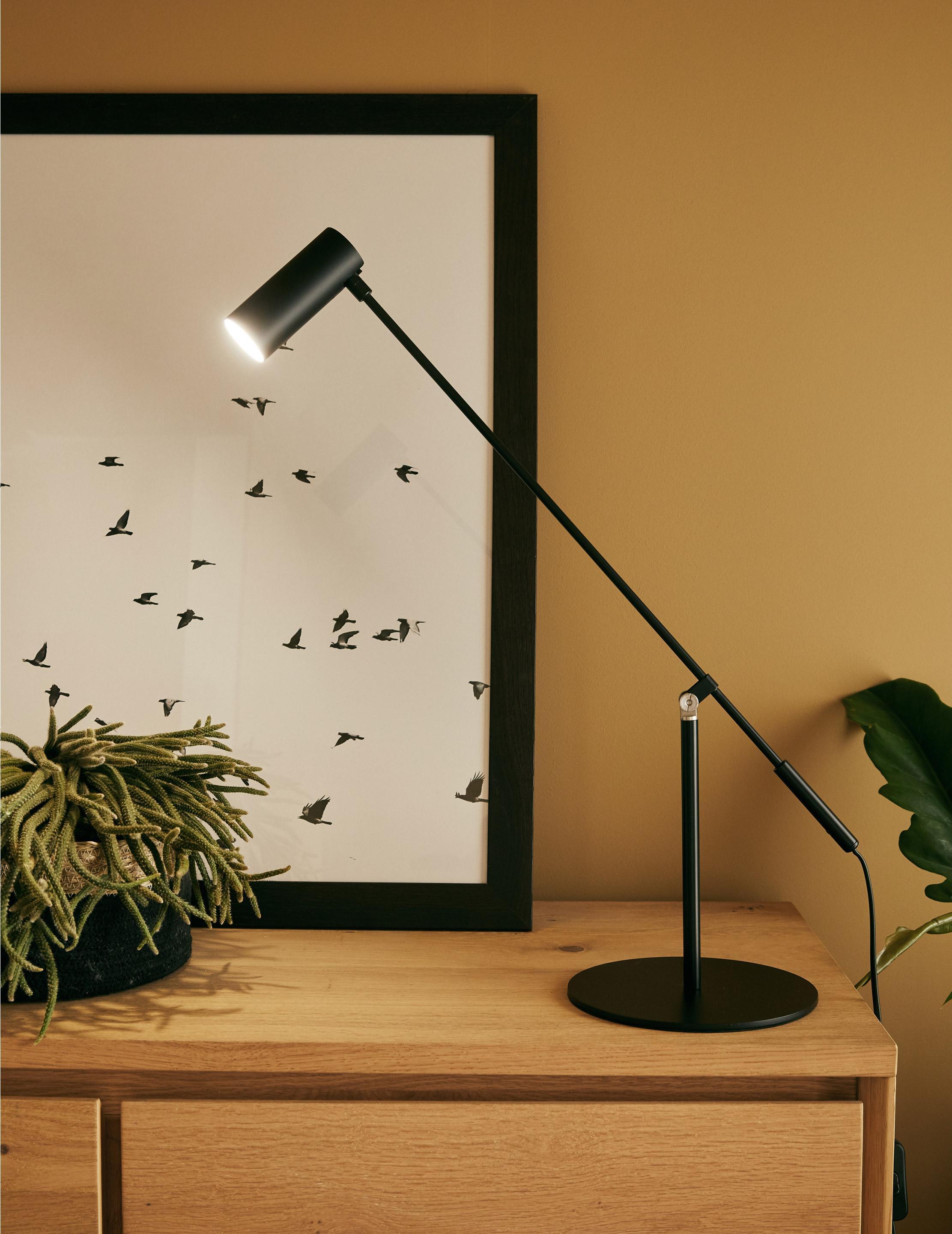 Lampe, design, métal noir, BRILLIANT Soeren L