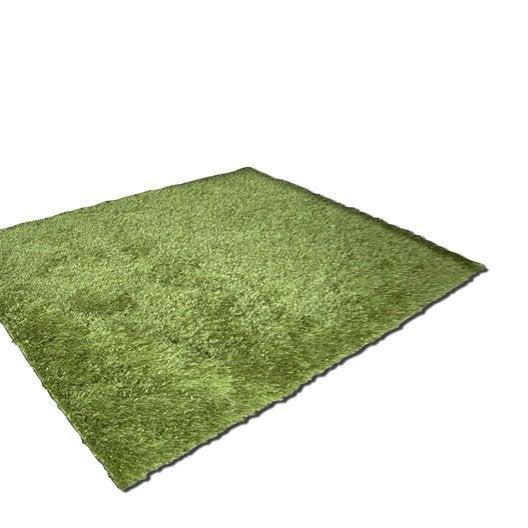 tapis vert shaggy lilou x cm leroy merlin. Black Bedroom Furniture Sets. Home Design Ideas