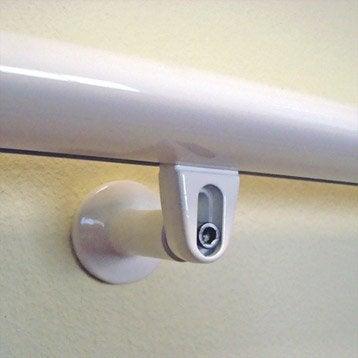 Support pour main courante TIERAL aluminium blanc H.7 x l.5 cm