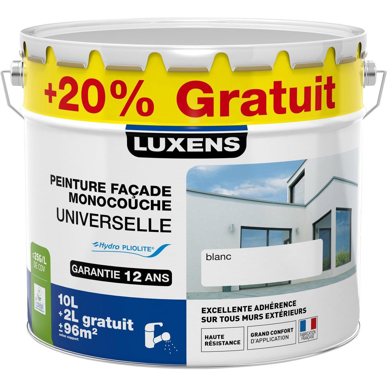 peinture fa ade universelle luxens blanc 10l 20 gratuit leroy merlin. Black Bedroom Furniture Sets. Home Design Ideas