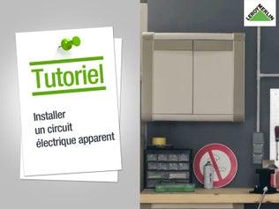 Comment installer une prise ou interrupteur avec un circuit apparent ?