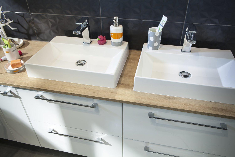 Vasque Salle De Bain Sur Plan De Travail une vasque en céramique à poser | leroy merlin