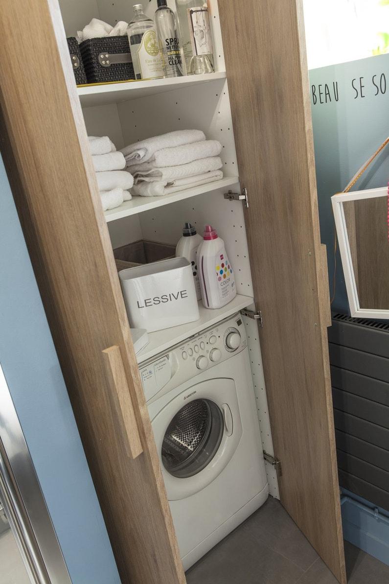 une armoire pour dissimuler votre espace buanderie leroy merlin. Black Bedroom Furniture Sets. Home Design Ideas