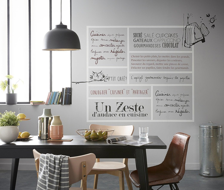 Salle De Bain Vasque ~ Stickers Citation Du Bonheur Sur Les Murs Leroy Merlin