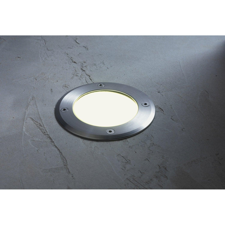 Spot encastrer ext rieur diam 12 cm aluminium inspire leroy merlin for Spot decoratif exterieur