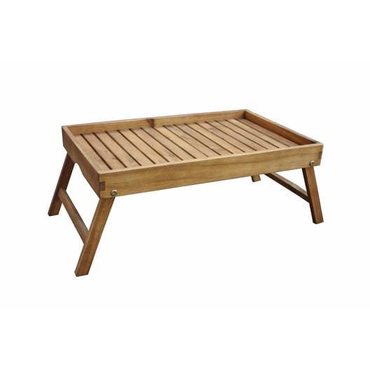 plateau de table naterial porto rectangulaire brun 4 personnes leroy merlin. Black Bedroom Furniture Sets. Home Design Ideas