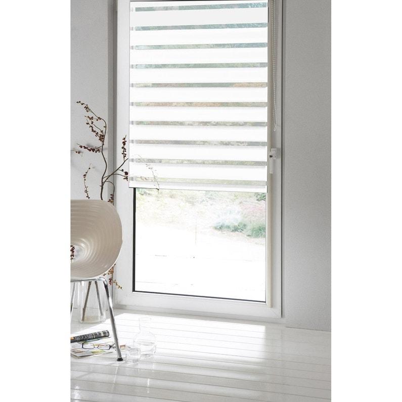 Store Enrouleur Jour Nuit Inspire Blanc Blanc N0 154 X 190 Cm