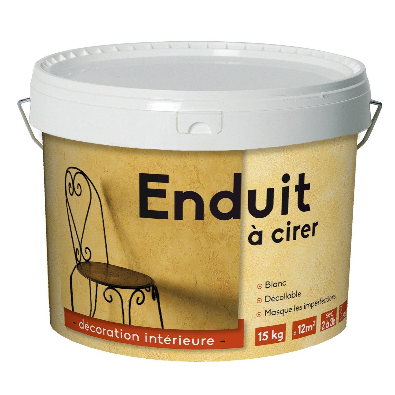 Peinture à Effet, Enduit 1er Prix à Cirer ID, Blanc, 15 Kg