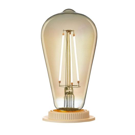 Ampoule filament LED edison E27 3W = 300Lm (équiv 28W) 2000K LEXMAN