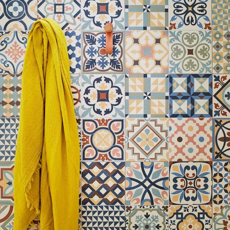 Carrelage Sol Et Mur Forte Carreau De Ciment Multicolore Antan L3315 X L3315
