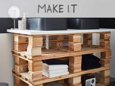 DIY : Fabriquer un meuble vasque palettes | Leroy Merlin