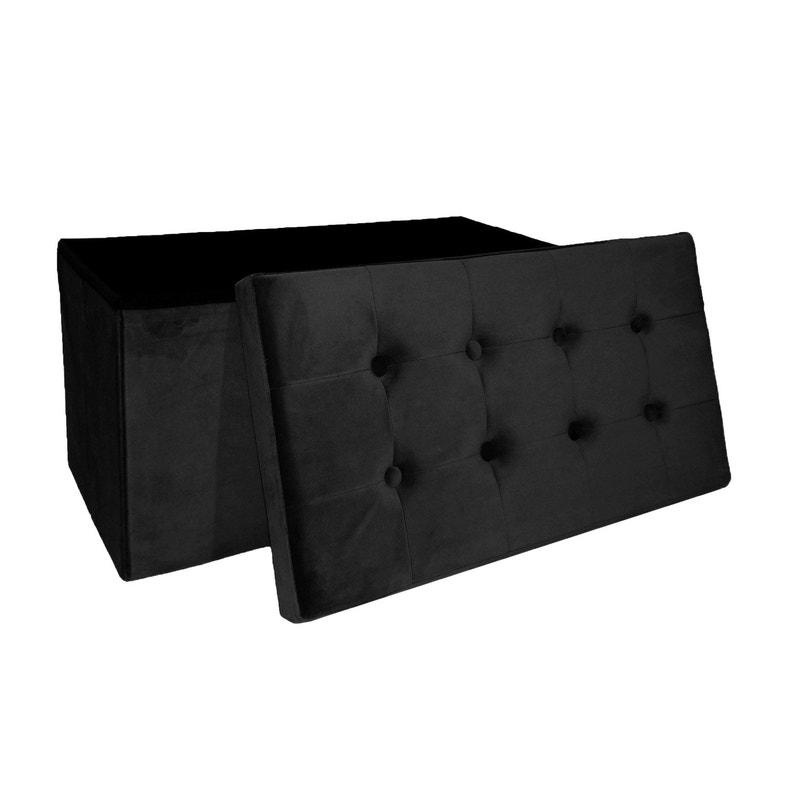 nouveau concept 89a5e 04d3c Pouf d'assise de chaise ou de fauteuil noir, 76 x 38