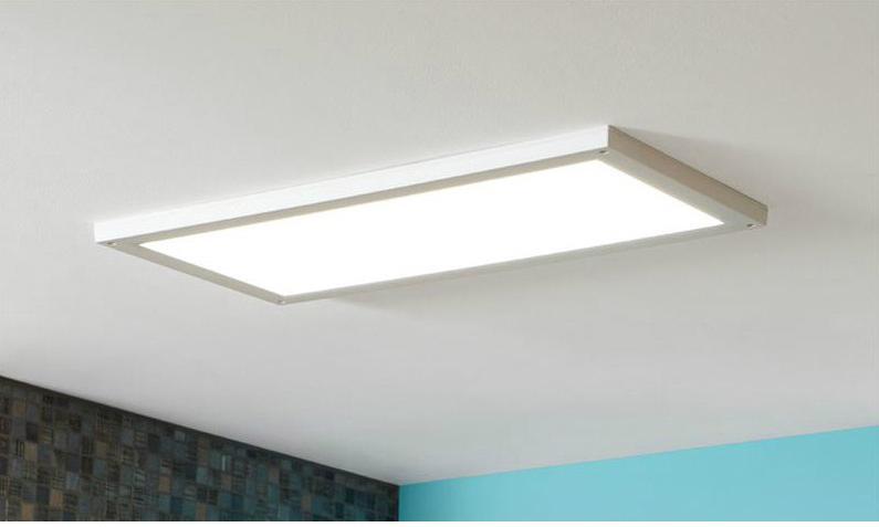Panneau LED intégrée Gdansk INSPIRE IP44, rectangle 60 x 30 cm, 24 W, blanc