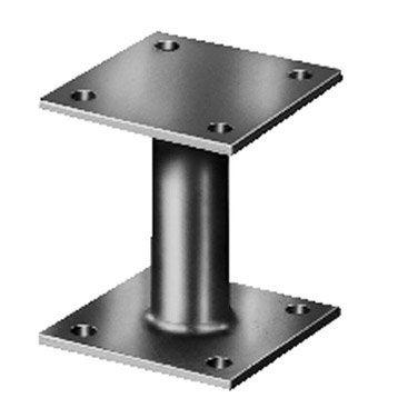 Support de poteau galvanisé, 150x150x100x100x100 mm