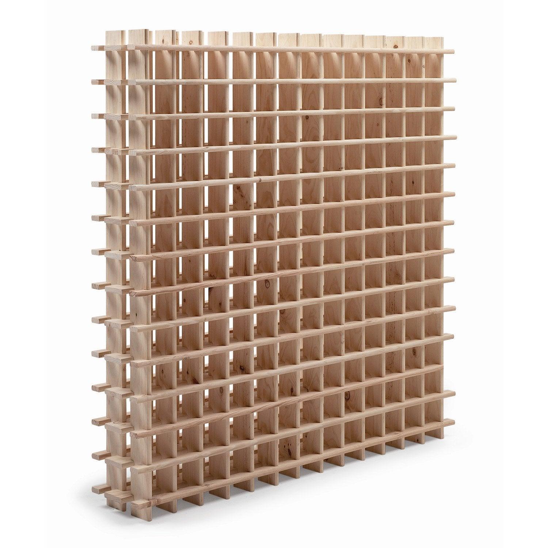 Casier 169 emplacements bois brut | Leroy Merlin
