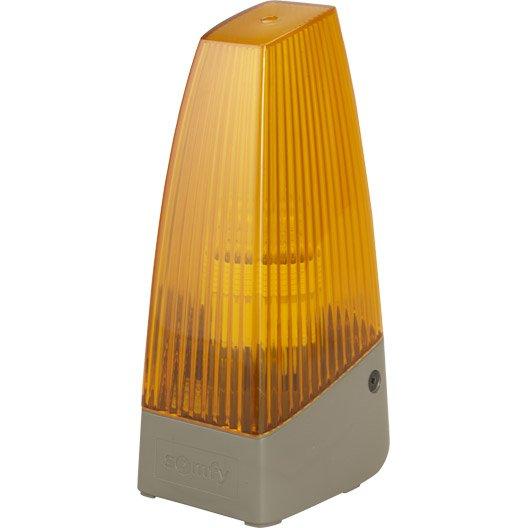 Feu clignotant orange pour motorisation de portail somfy - Motorisation porte garage leroy merlin ...