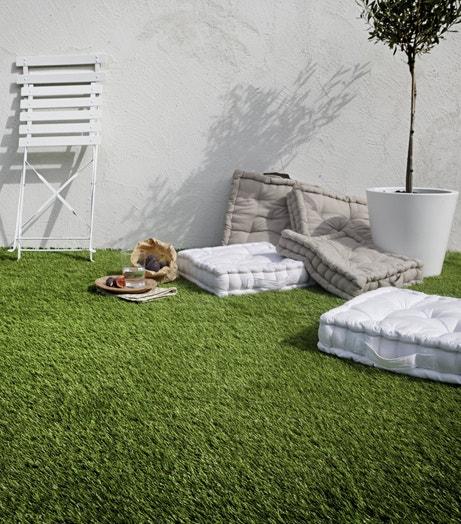 Un salon verdoyant sur les toits