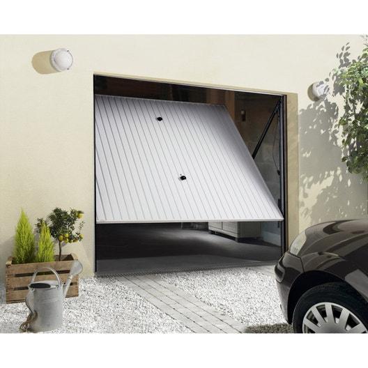 Porte de garage basculante manuelle non d bordante x cm leroy merlin - Porte de garage basculante non debordante tubauto ...