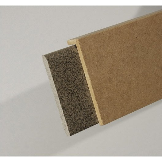 Surplinthe de r novation m dium mdf m lamin 20 x 92 mm l 2 2 m leroy merlin for Plinthe renovation