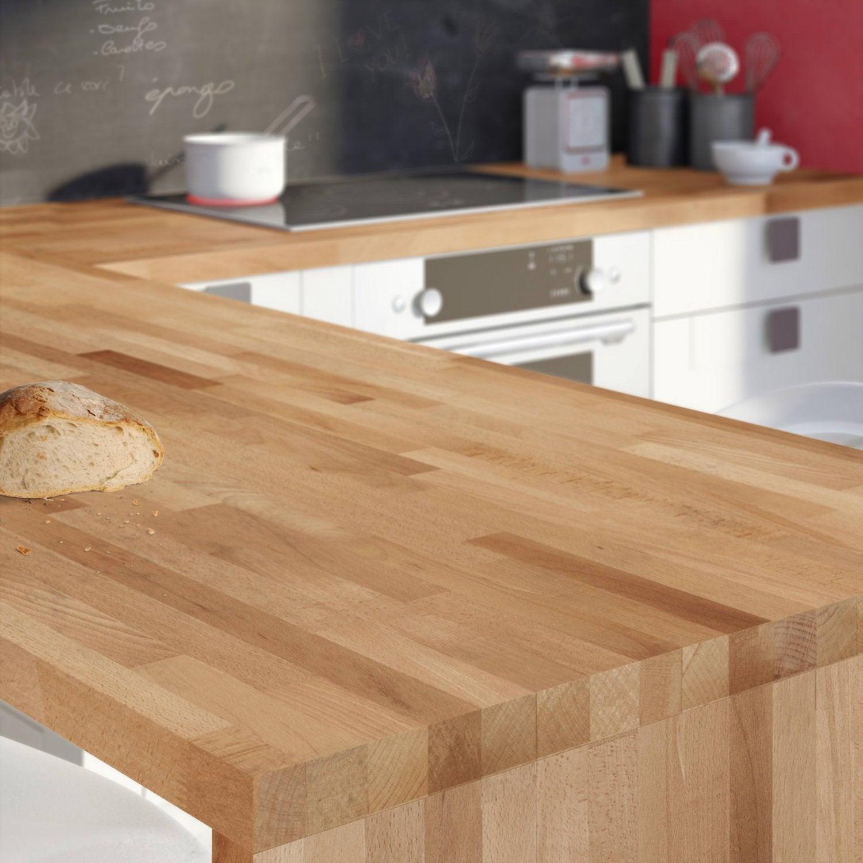 Les plans de travail en bois massif authentiques et chaleureux