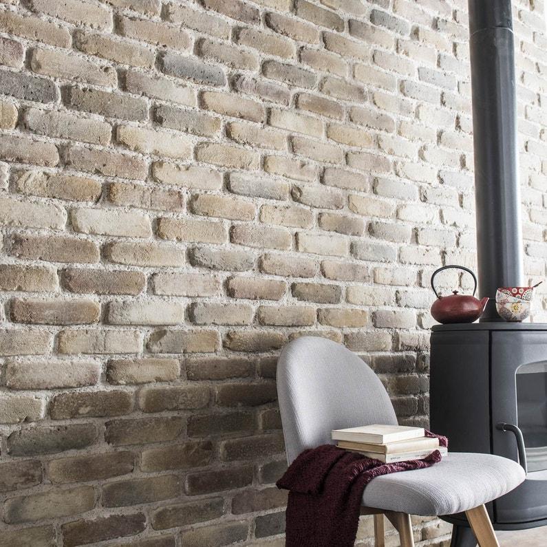 Plaquette de parement béton beige nuancé Auxonne   Leroy Merlin