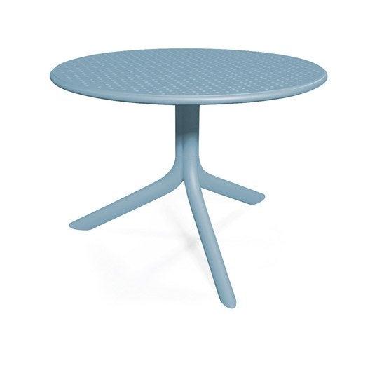 table nardi bora ronde bleu 2 personnes leroy merlin. Black Bedroom Furniture Sets. Home Design Ideas