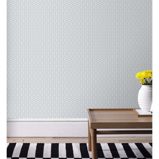 papier peint intiss nelio gris clair leroy merlin. Black Bedroom Furniture Sets. Home Design Ideas