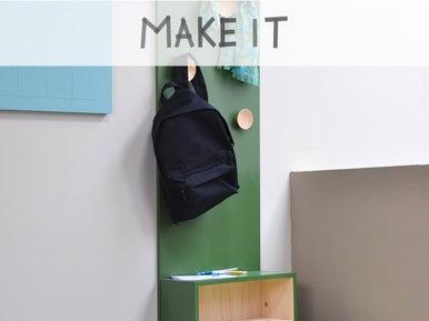 diy cr er un porte manteau en rangement malin leroy merlin. Black Bedroom Furniture Sets. Home Design Ideas