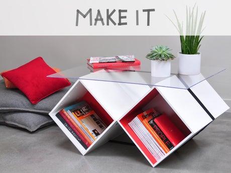 diy cr er une table basse en verre avec rangements leroy merlin. Black Bedroom Furniture Sets. Home Design Ideas