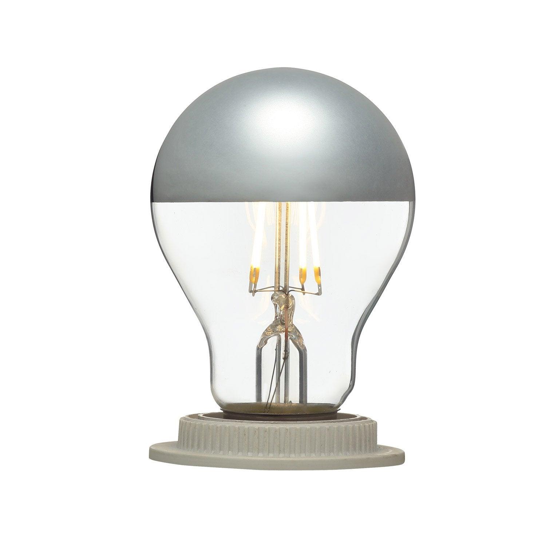 Ampoule LED calotte argentée E27 5W = 470Lm (équiv 40W) 2700K LEXMAN ...