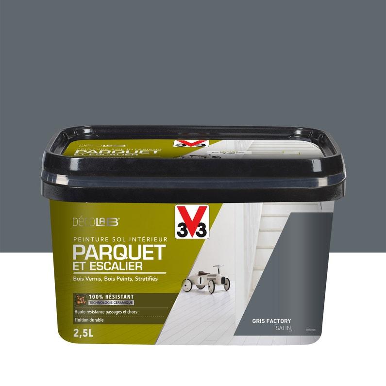 Peinture Sol Intérieur Decolab Sol 100 Parquet V33 Gris Factory