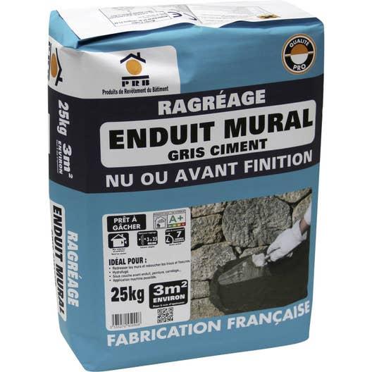 Ragr age mural prb 25 kg leroy merlin for Peinture sur enduit ciment interieur