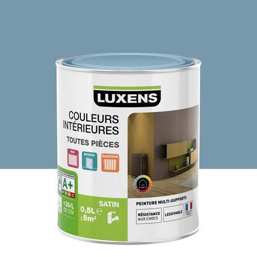 Peinture bleu baltique 3 LUXENS Couleurs intérieures satin 0.5 l
