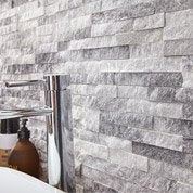 Plaquette de parement pierre naturelle blanc Ultra artic