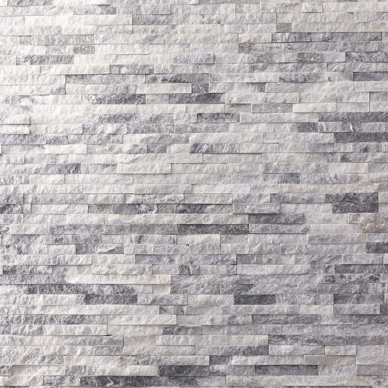 plaquette de parement pierre naturelle blanc ultra artic. Black Bedroom Furniture Sets. Home Design Ideas