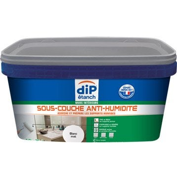Sous-couche antihumidité, DIP blanc 2.5 l