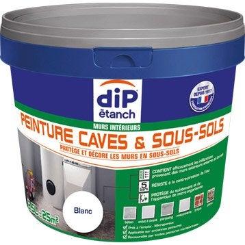 Peinture cave et sol Peinture cave & sous-sol, DIP blanc 2.5 l
