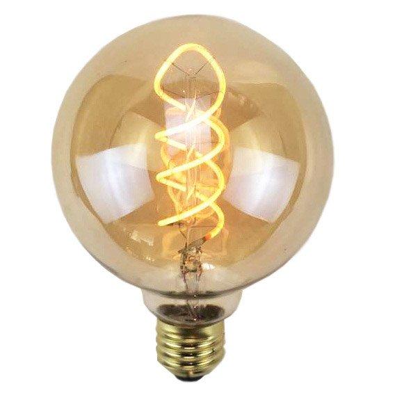 Ampoule Décorative Led Ambré Globe 95mm E27 240lm 35w Blanc Chaud Sampa Helios